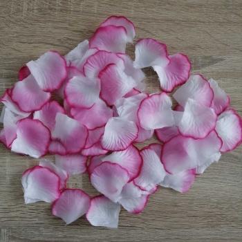 Штучні пелюстки троянд рожеві (уп100шт + -3%)