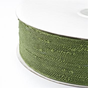 Стрічка джутовая 38 мм зелена