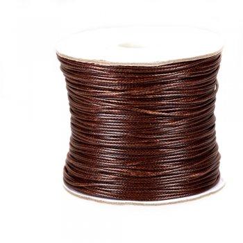 Шнур хлопковый плетеный, коричневый, 1 мм