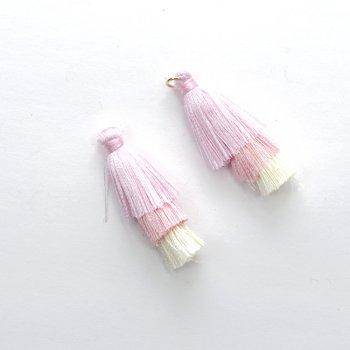 Текстильные кисточки розовые