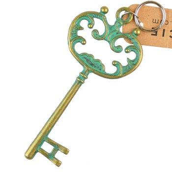 Кулон металевий ключ