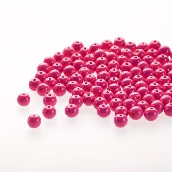 Стекло однотонное полной окраски. Ярко-розовый. Диаметр 8 мм.