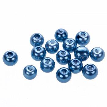 Жемчуг стеклянные гладкий сиренево-синий