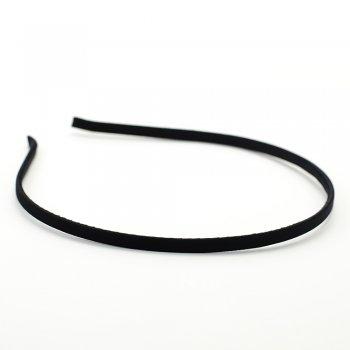 Обруч металевий з атласним покриттям чорний