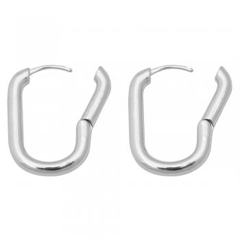 Сережки (пара) прямокутні мельхіорові