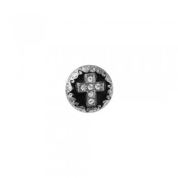 Бусина кнопка кругла Хрест