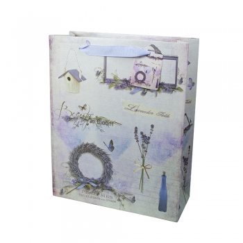 Пакет паперовий 32х26х10 Лаванда