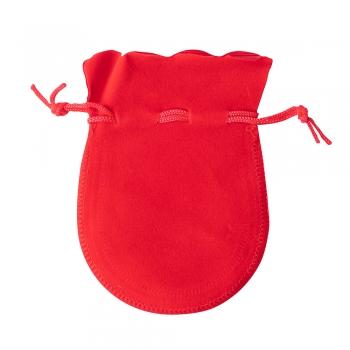 Декоративний мішечок оксамитовий 12х9 см червоний