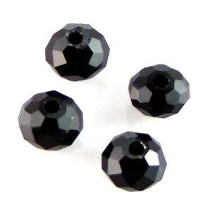 Хрустальные бусины черные