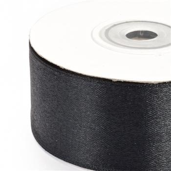 Лента атласная 30 мм черная