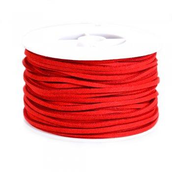 Шнур темно-червоний штучна замша 3 мм