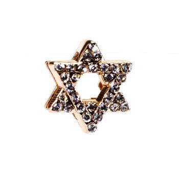 Бусина слайдер Звезда Давида розовое золото