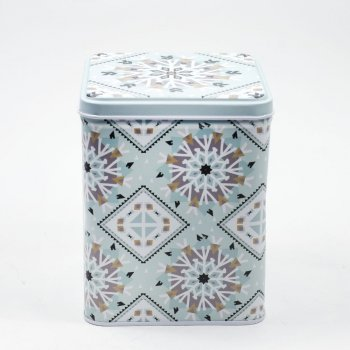 Коробочка жестяная 10,9х10,9х13,4 см