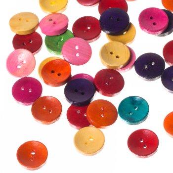 Пуговицы деревянные круглые, микс цветов, 20 мм