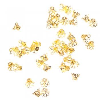 Конуси ажурні золото 8 мм