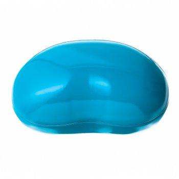 Коробочка бляшана 16х11х8,5см блакитна квасоля