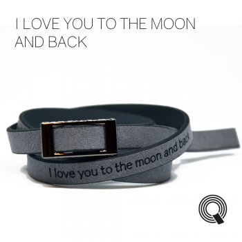 "Браслеты квоутлеты ""I love you to the moon and back"", темно-серый"