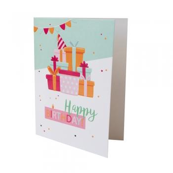 Открытка 104х80 Happy Birthday подарки