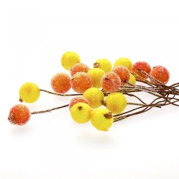 Декор Жовті і помаранчеві намистини на дроті