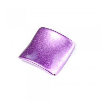 Пластик светорефлекторный фиолетовый. Бусина Ромб изогнутая сиреневая