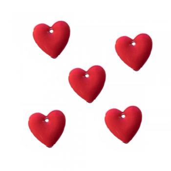 Металева підвіска Серце червоне
