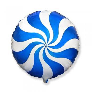 Куля фольга Льодяник блакитний