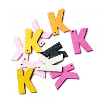 Підвіски дерев'яні, буква K