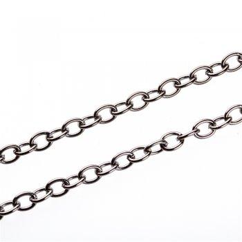 Цепь тёмно-стальная средняя якорная 8х10х1,6 мм