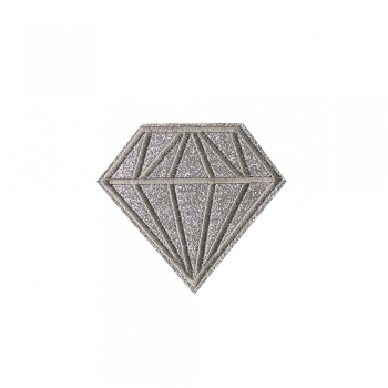 Тканевая нашивка Бриллиант Серебристый