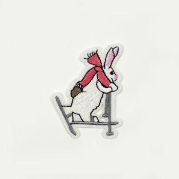 """Тканинні нашивки """"Заєць-лижник"""""""