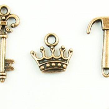 Корона, металлическая подвеска