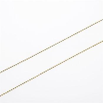 Цепь фигурная, светло-золотая граненная по экватору