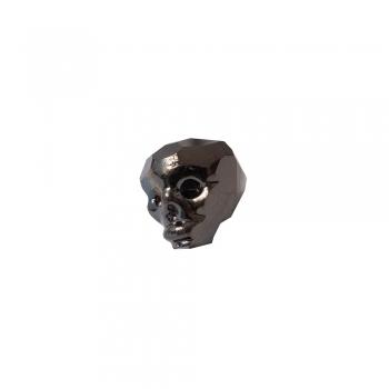 Хрустальная бусина череп длина 13 мм черная