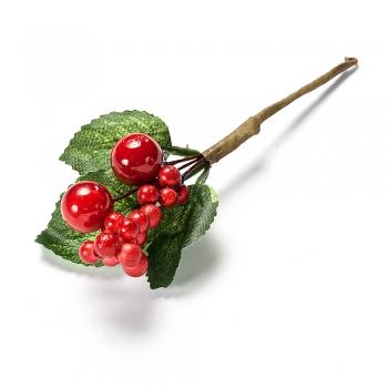 Элемент декора веточка с красными ягодами