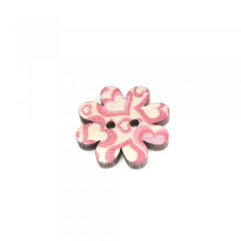 Пуговицы деревянные, маленький цветок