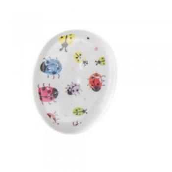 Намиста пластикові овал пластик з візерунком. Мікс кольорів. Мікс розмірів.