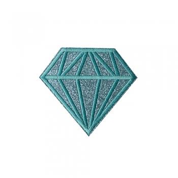 Тканинна нашивка Діамант Бірюзовий