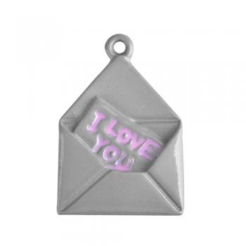Металлическая подвеска Любовное письмо