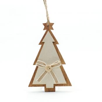Дерев'яна декоративна підвіска Ялинка