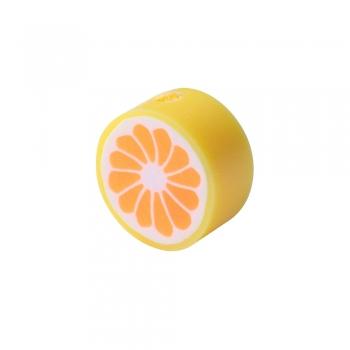 Бусина з полімерної глини Апельсин червоний 10 мм