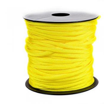 Шнур паракорд жёлтый полиэстер 4 мм