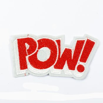 Тканевая нашивка POW!