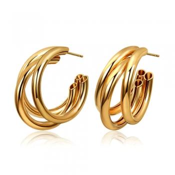 Сережки (пара) кільце золоте