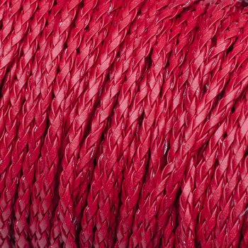 Шнур-кіска червоний шкірзамінник 3 мм