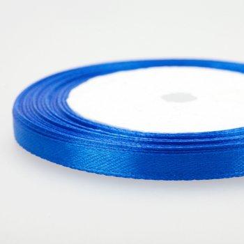 Стрічка атласна, колір синій, ширина 7мм