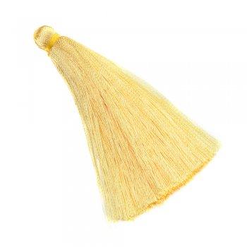 Текстильные кисточки светло-желтые