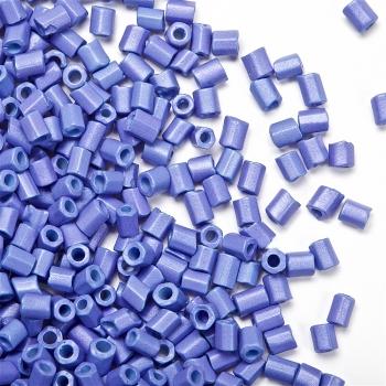 Бисер-рубка голубой матовый 2.1 мм стекло