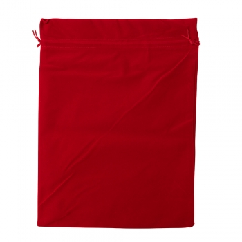 Декоративный мешочек бархатный 40х30 см красный