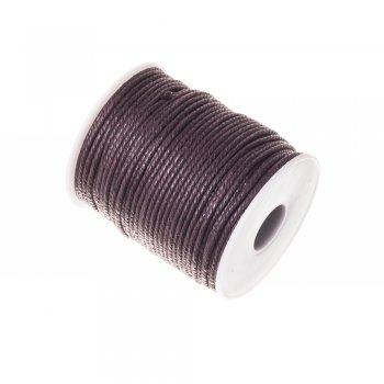 Шнур скрученный хлопок коричневый 2 мм