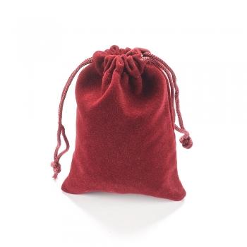 Декоративный мешочек бордовый